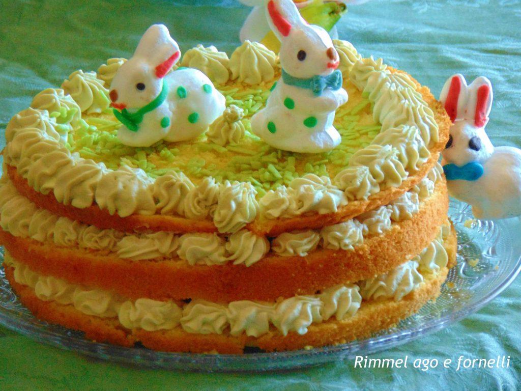 Torta con crema al pistacchio