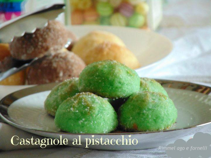 Castagnole al pistacchio